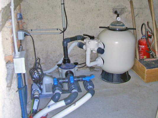 Filtration et création du local technique mon de pra