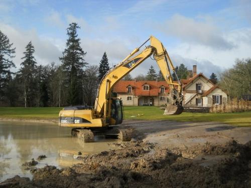 Entreprise travaux publics terrassement 28 aménagement étang