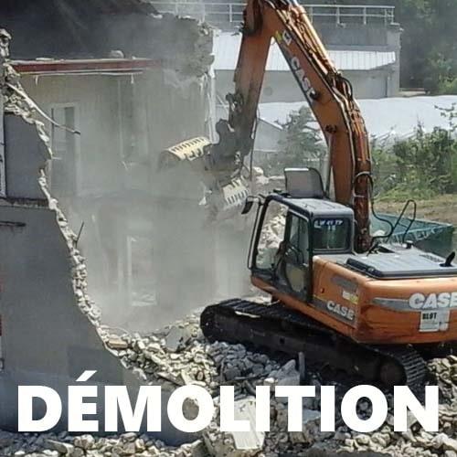 démolition blot pelleteuse