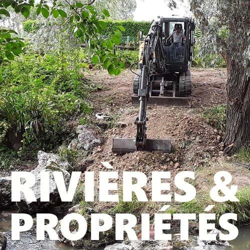 rivières propriétés pelleteuse