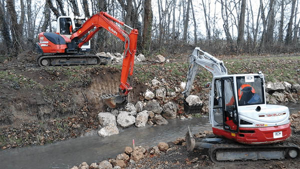 réalisation banquettes rivières travaux publics