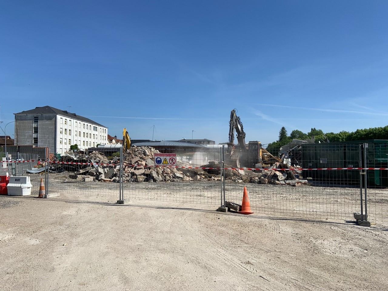chantier démolition blot caproga vnf montargis loiret 45 travaux publics