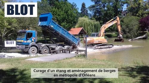 blot curage d'étang et aménagement de berges en métropole d'Orléans loiret 45